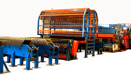 Automatic Steel Mesh Welding Line, Straight Bar + Coil Wire
